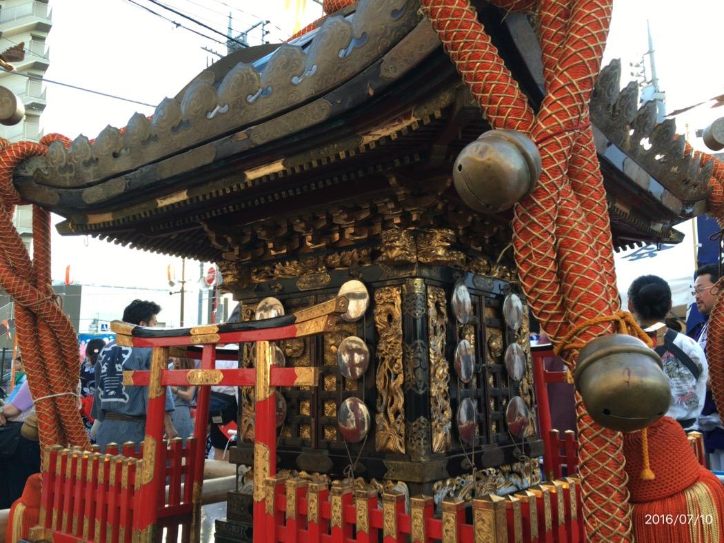いつもお詣りしている神社のお神輿を担がせて頂いて[7/10 鴻巣夏まつり]