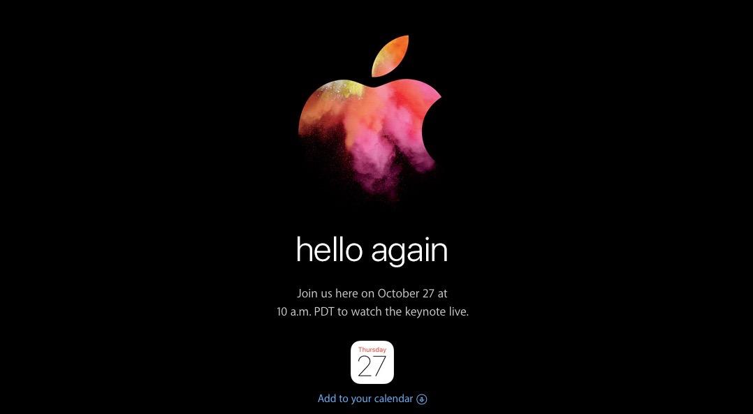 Mac初登場の衝撃再び!? Apple、10月27日にスペシャルイベント「hello again」開催【超待った】
