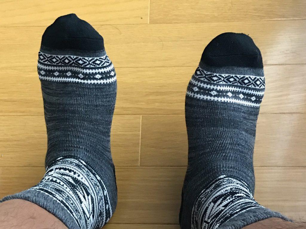 ダイソーのシンプルな靴下を履いてみた