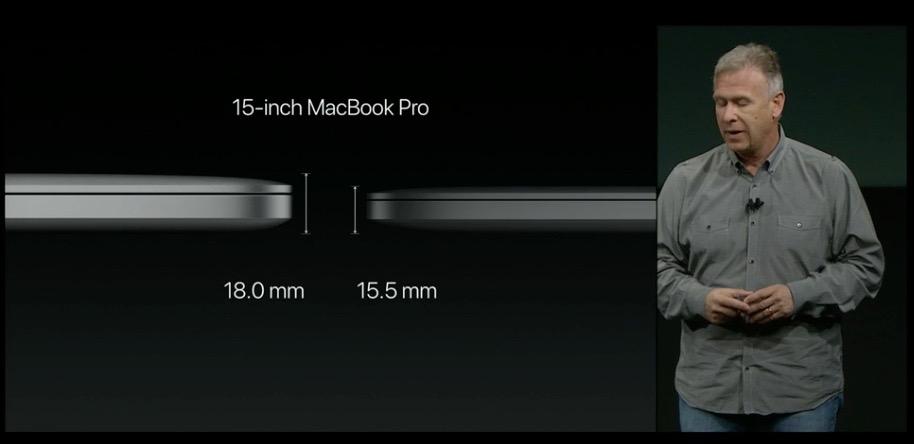 macbookPROの薄さがわかる