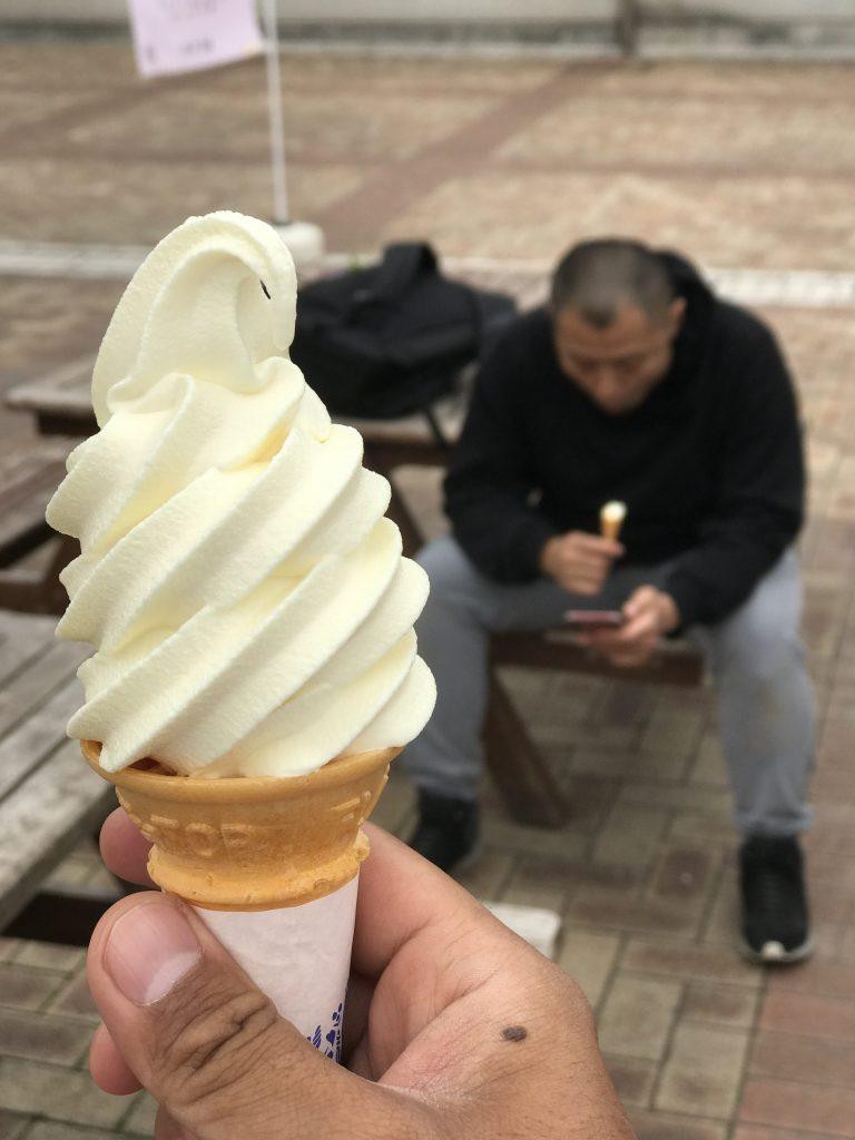 道の駅ろまんちっく村レモン牛乳ソフトクリーム