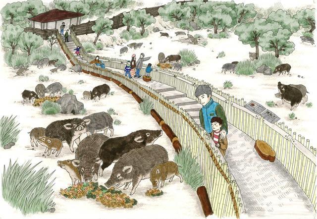 東筑波 イノシシ牧場 イメージ図